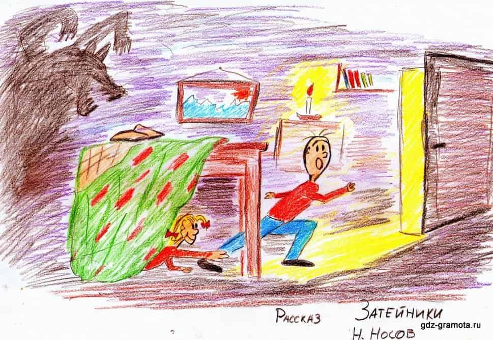 Затейники носов рисунок детей 191