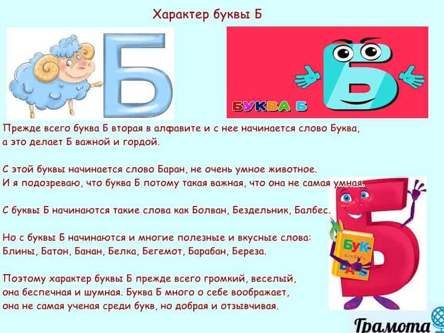 Характер буквы Б