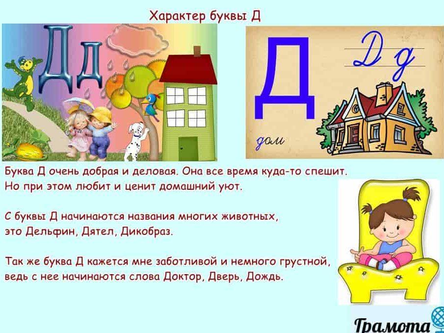 Характер буквы Д