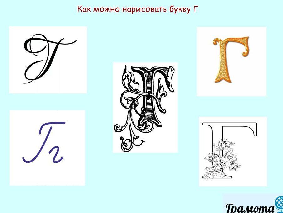 Как нарисовать букву Г