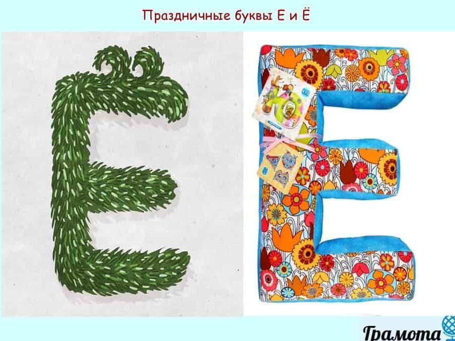 Праздничная буква Е и Ё