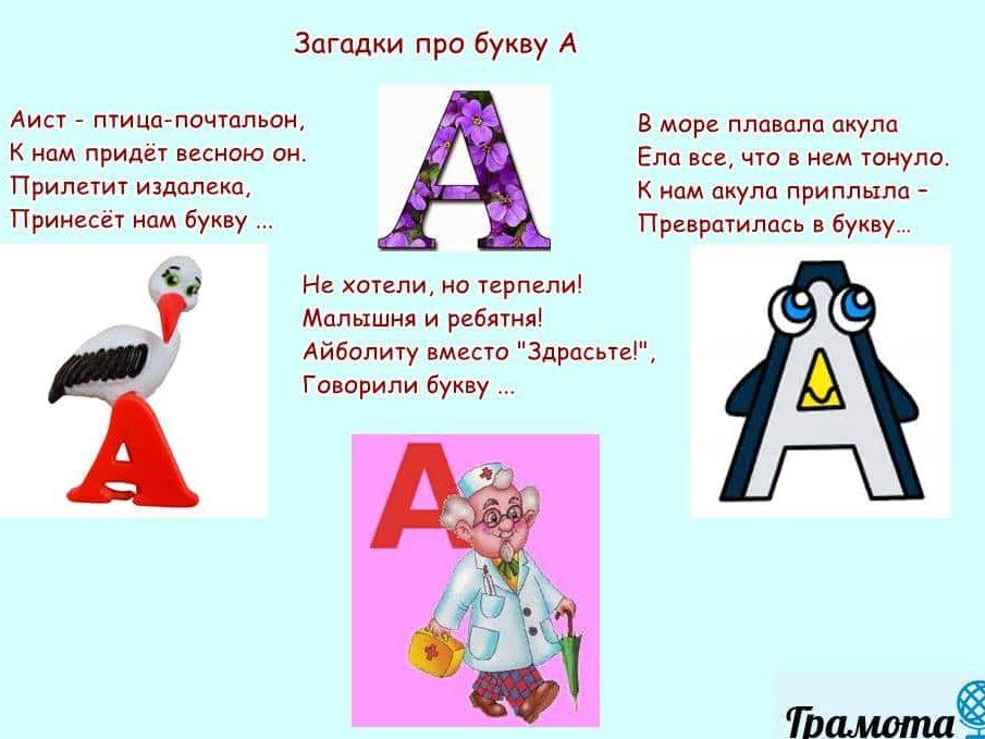 Загадки про букву А