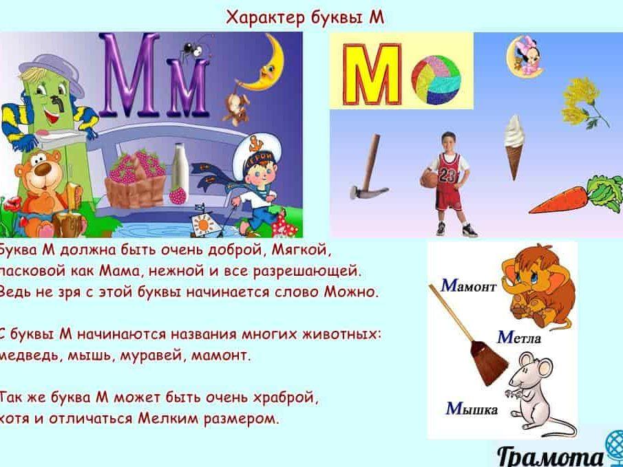 Характер буквы М
