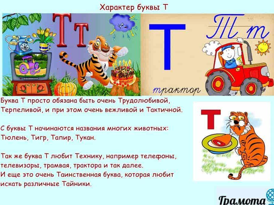 Характер буквы Т
