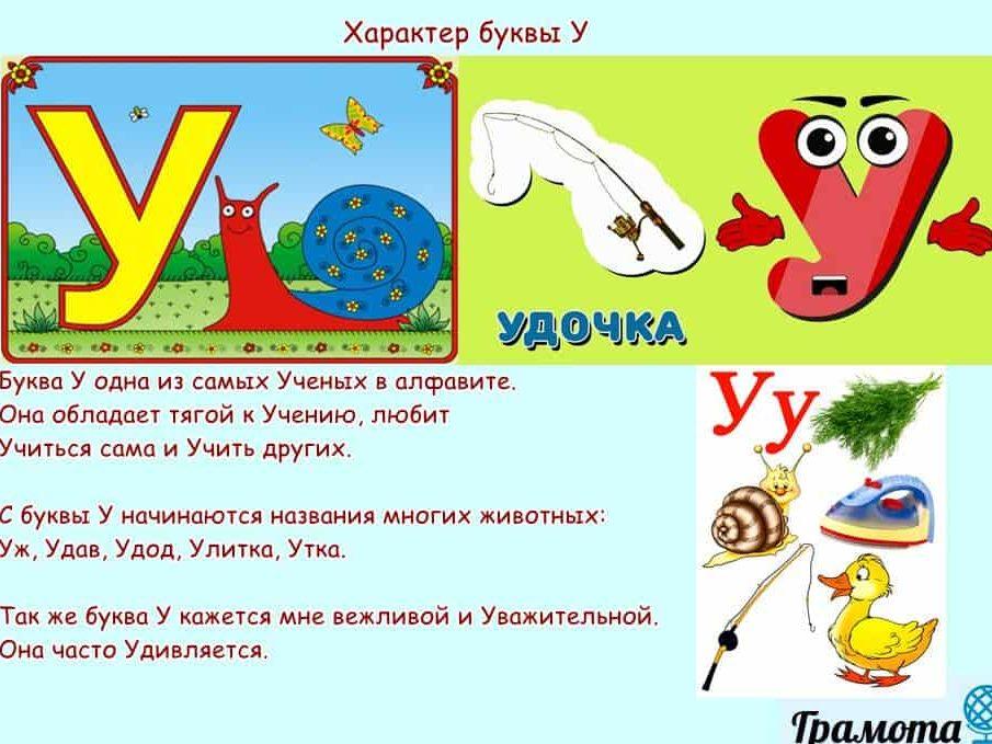 Характер буквы У