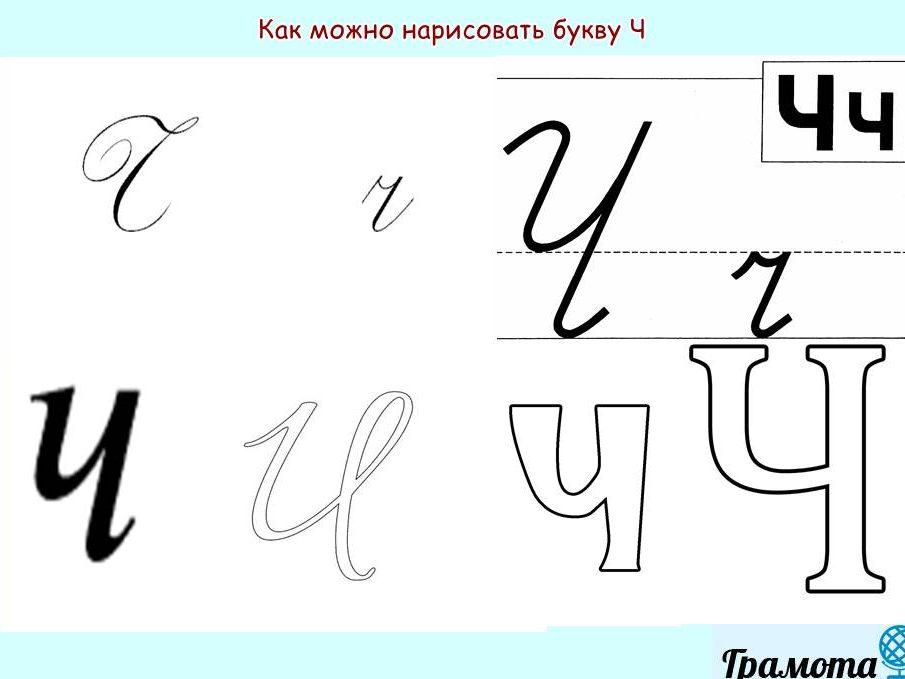 Как красиво написать букву Ч