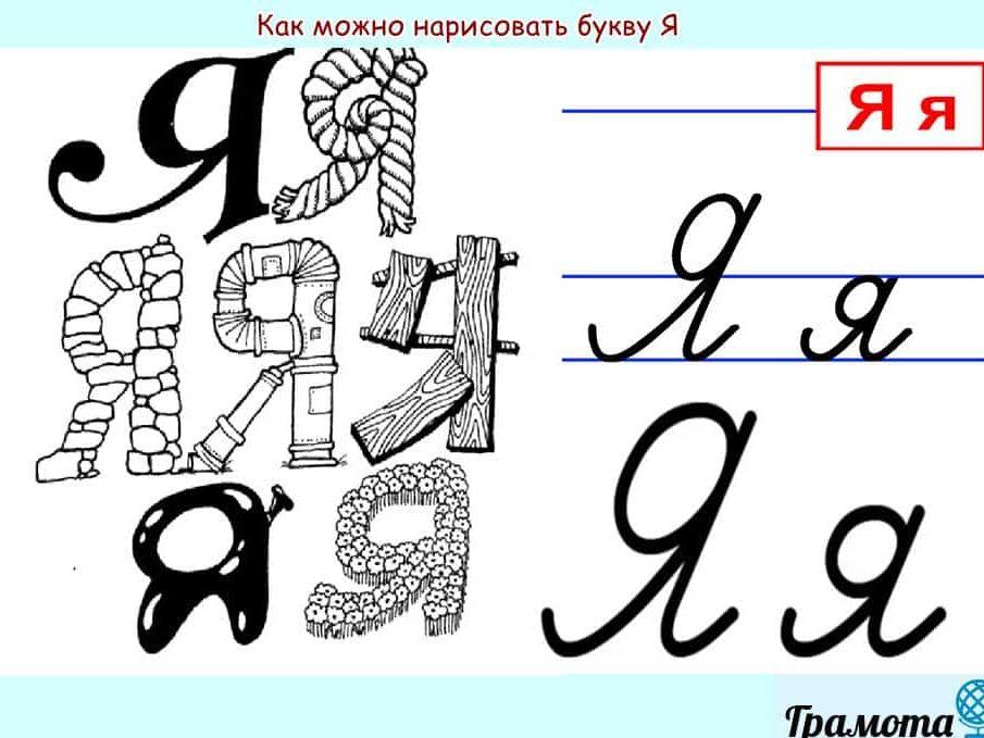 Как написать букву Я