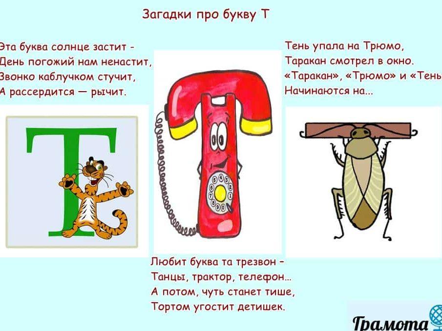 Загадки про букву Т