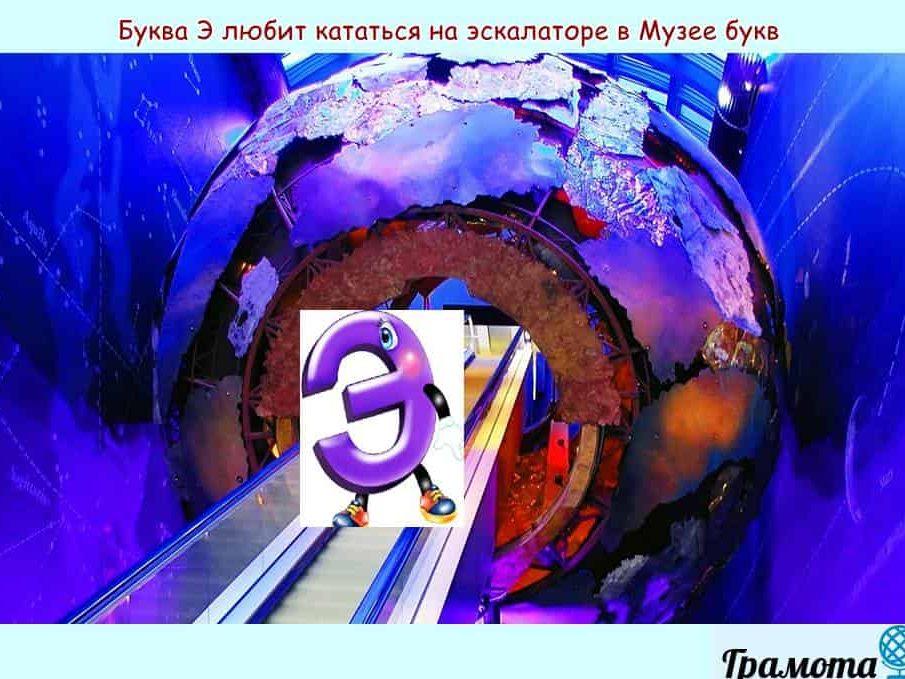 Буква Э в музее букв