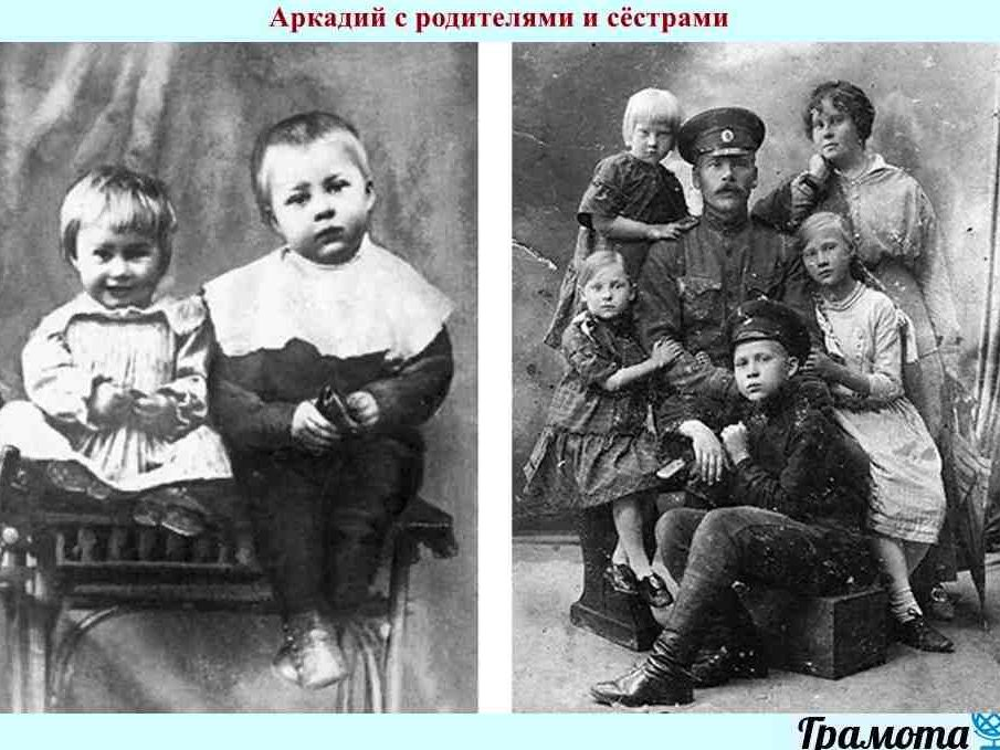 Аркадий Гайдар: краткая биография