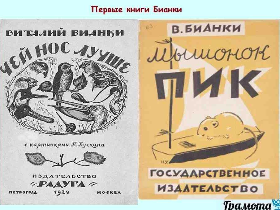 Виталий Бианки. Краткая биография